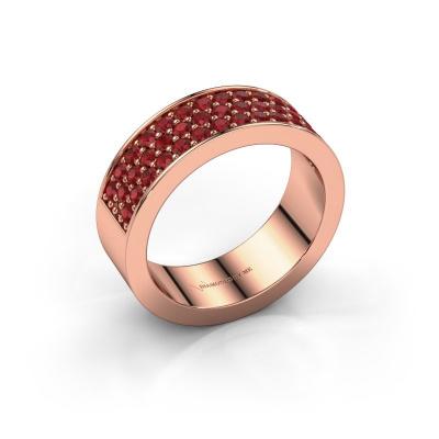 Ring Lindsey 6 585 rose gold ruby 1.7 mm