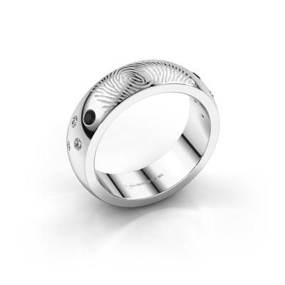 Foto van Ring Minke 950 platina zwarte diamant 0.147 crt