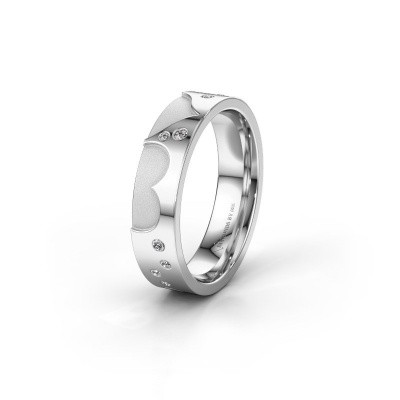 Trouwring WH2114L25A 375 witgoud lab-grown diamant ±5x1.7 mm