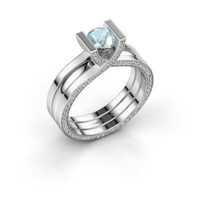 Foto van Ring Kenisha 925 zilver aquamarijn 5 mm