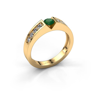Engagement ring Lizzy 2 585 gold emerald 4.2 mm