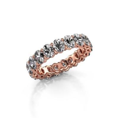 Aanschuifring Heddy OVL 3.5x4.5 375 rosé goud diamant 3.990 crt