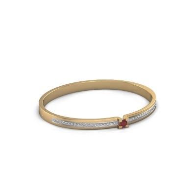 Armband Myrthe 585 goud robijn 4 mm