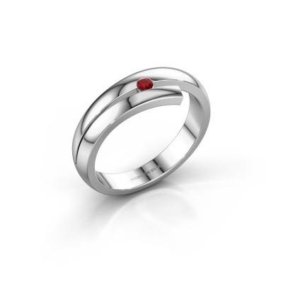 Ring Shela 585 witgoud robijn 2.2 mm