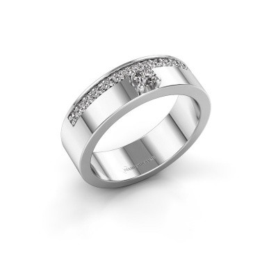 Ring Vicki 585 witgoud zirkonia 3 mm