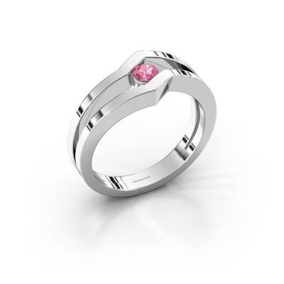 Foto van Ring Elize 925 zilver roze saffier 3.4 mm