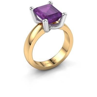 Ring Clelia EME 585 goud amethist 10x8 mm