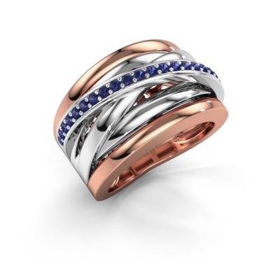 Foto van Ring Clair 1 585 rosé goud saffier 1.5 mm