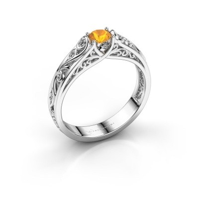Picture of Ring Quinty 925 silver citrin 4 mm