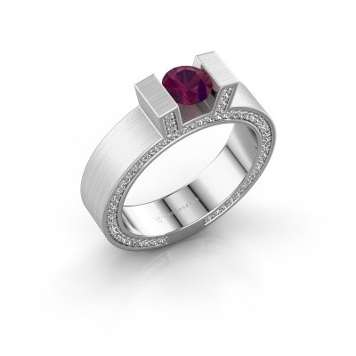 Picture of Ring Leena 2 585 white gold rhodolite 5 mm