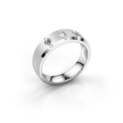 Picture of Men's ring Remco 950 platinum aquamarine 2.7 mm