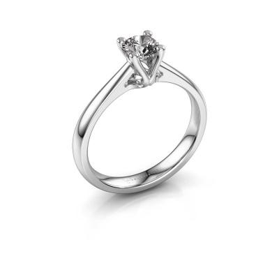 Bague de fiançailles Janna 1 585 or blanc diamant 0.40 crt
