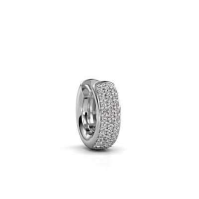 Photo de Boucle d'oreille homme Mels 585 or blanc diamant 0.201 crt