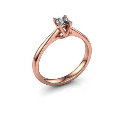 Verlobungsring Janna 1 585 Roségold Diamant 0.30 crt
