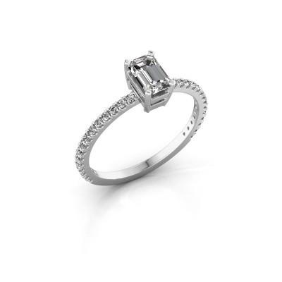Foto van Verlovingsring Denita 2 950 platina diamant 0.70 crt