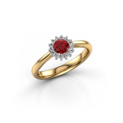Engagement ring Tilly RND 1 585 gold ruby 4.2 mm