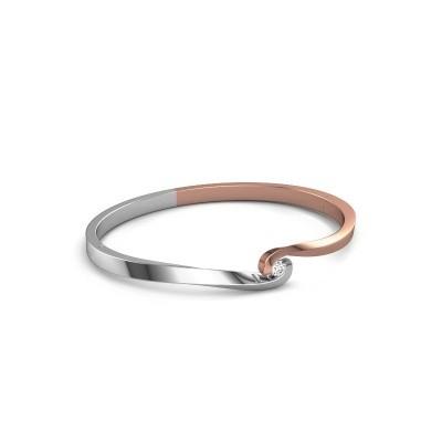 Slavenarmband Sheryl 585 rosé goud diamant 0.20 crt