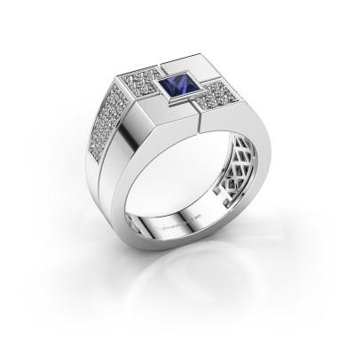 Men's ring Rogier 925 silver sapphire 4 mm