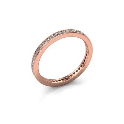 Aanschuifring Elvire 1 375 rosé goud zirkonia 1.1 mm