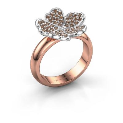 Ring Daphne 585 rose gold brown diamond 0.450 crt