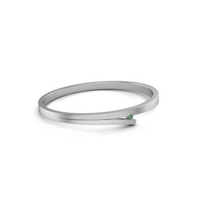 Slavenarmband Rosario 950 platina smaragd 3 mm