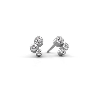 Photo de Clous d'oreilles Marlys 925 argent diamant 0.21 crt