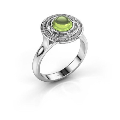 Ring Salima 925 zilver peridoot 6 mm