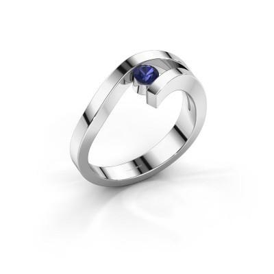 Ring Evalyn 1 925 zilver saffier 3.7 mm