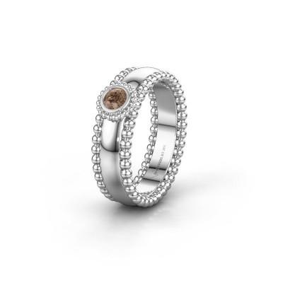Trouwring WH3053L16A 925 zilver bruine diamant ±6x1.7 mm