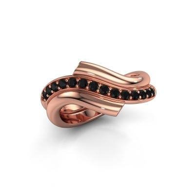 Ring Guusje 585 rose gold black diamond 0.42 crt