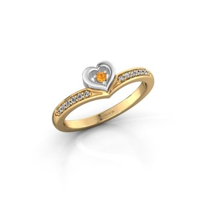 Ring Mimi 585 goud citrien 2 mm