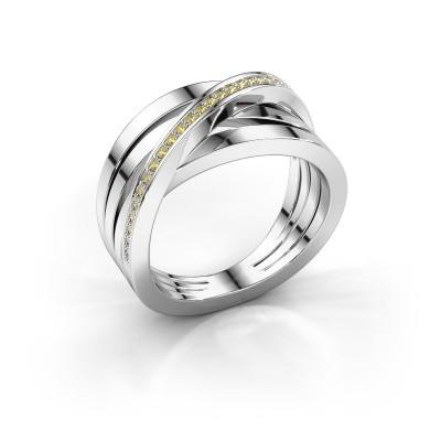 Foto van Ring Esmee 925 zilver gele saffier 1 mm