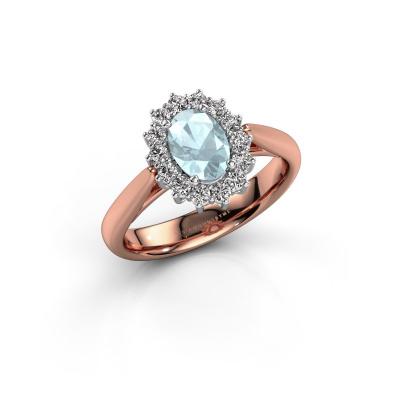 Picture of Engagement ring Margien 1 585 rose gold aquamarine 7x5 mm