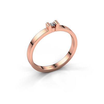 Verlovingsring Sofie 1 585 rosé goud diamant 0.03 crt