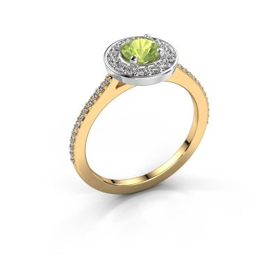 Ring Agaat 2 585 gold peridot 5 mm