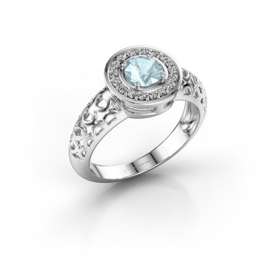 Picture of Ring Katalina 925 silver aquamarine 5 mm