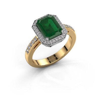Verlobungsring Dodie 2 585 Gold Smaragd 9x7 mm