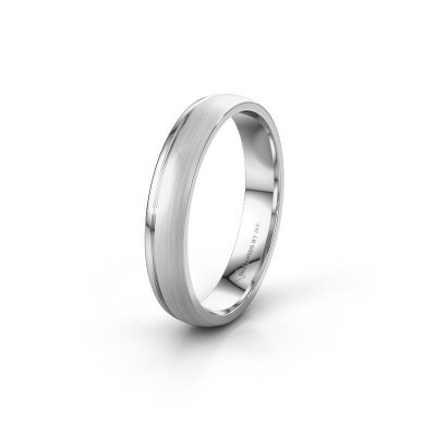 Wedding ring WH0334M24X 925 silver ±4x1.5 mm