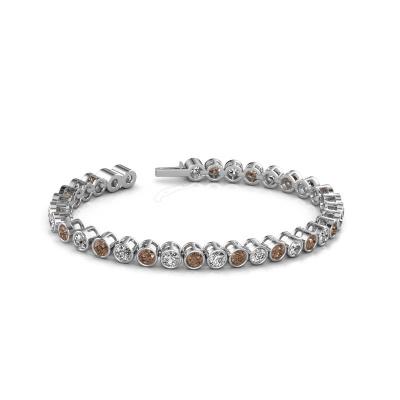 Foto van Tennisarmband Allegra 4 mm 585 witgoud bruine diamant 9.50 crt