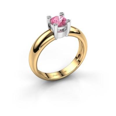 Ring Fleur 585 goud roze saffier 4.7 mm