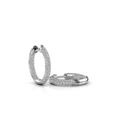 Picture of Hoop earrings Lotje 12mm 585 white gold diamond 0.911 crt