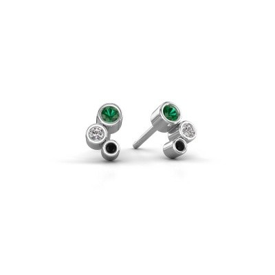 Picture of Stud earrings Marlys 925 silver emerald 2.5 mm