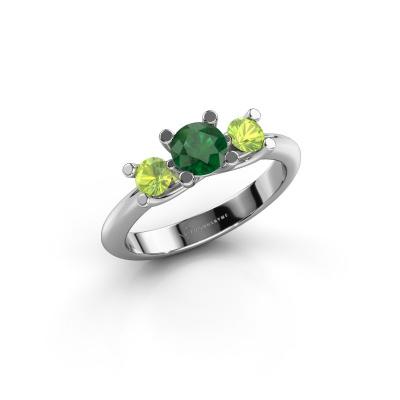 Ring Mirthe 925 Silber Smaragd 5 mm
