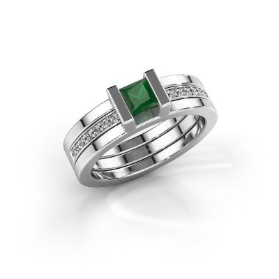 Picture of Ring Desire 925 silver emerald 4 mm