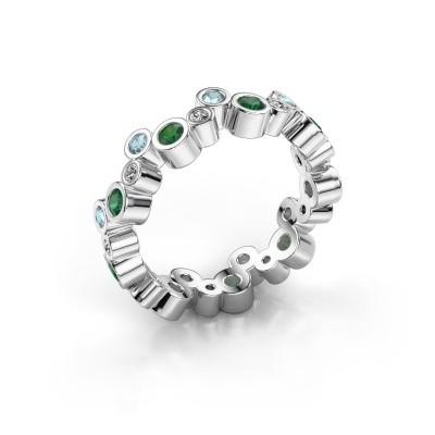 Foto van Ring Tessa 950 platina smaragd 2.5 mm