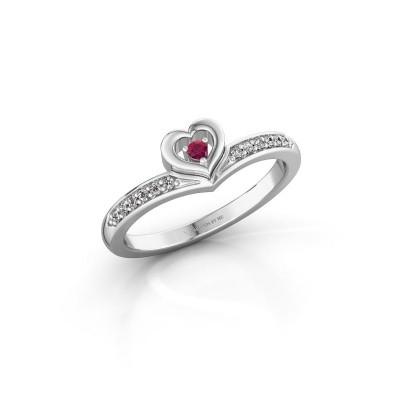 Ring Mimi 950 platina rhodoliet 2 mm
