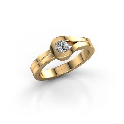 Bague Kiki 585 or jaune diamant 0.25 crt