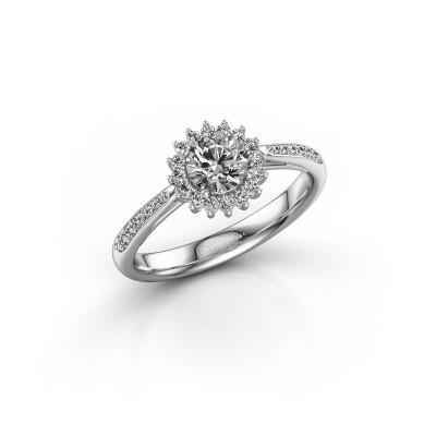 Foto van Verlovingsring Mariska 2 585 witgoud diamant 0.50 crt