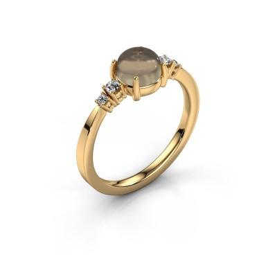 Ring Regine 585 goud rookkwarts 6 mm
