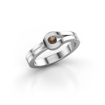 Ring Kiki 925 silver smokey quartz 3 mm